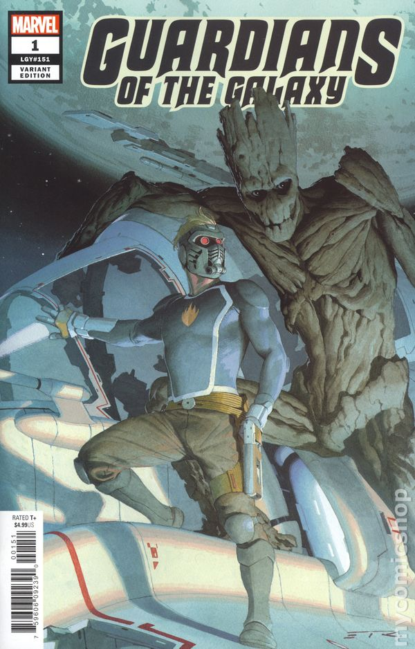The Long Boxers - Wednesday Wall Climb - Guardians Of The Galaxy 1 Esad Ribic 1-50 Variant